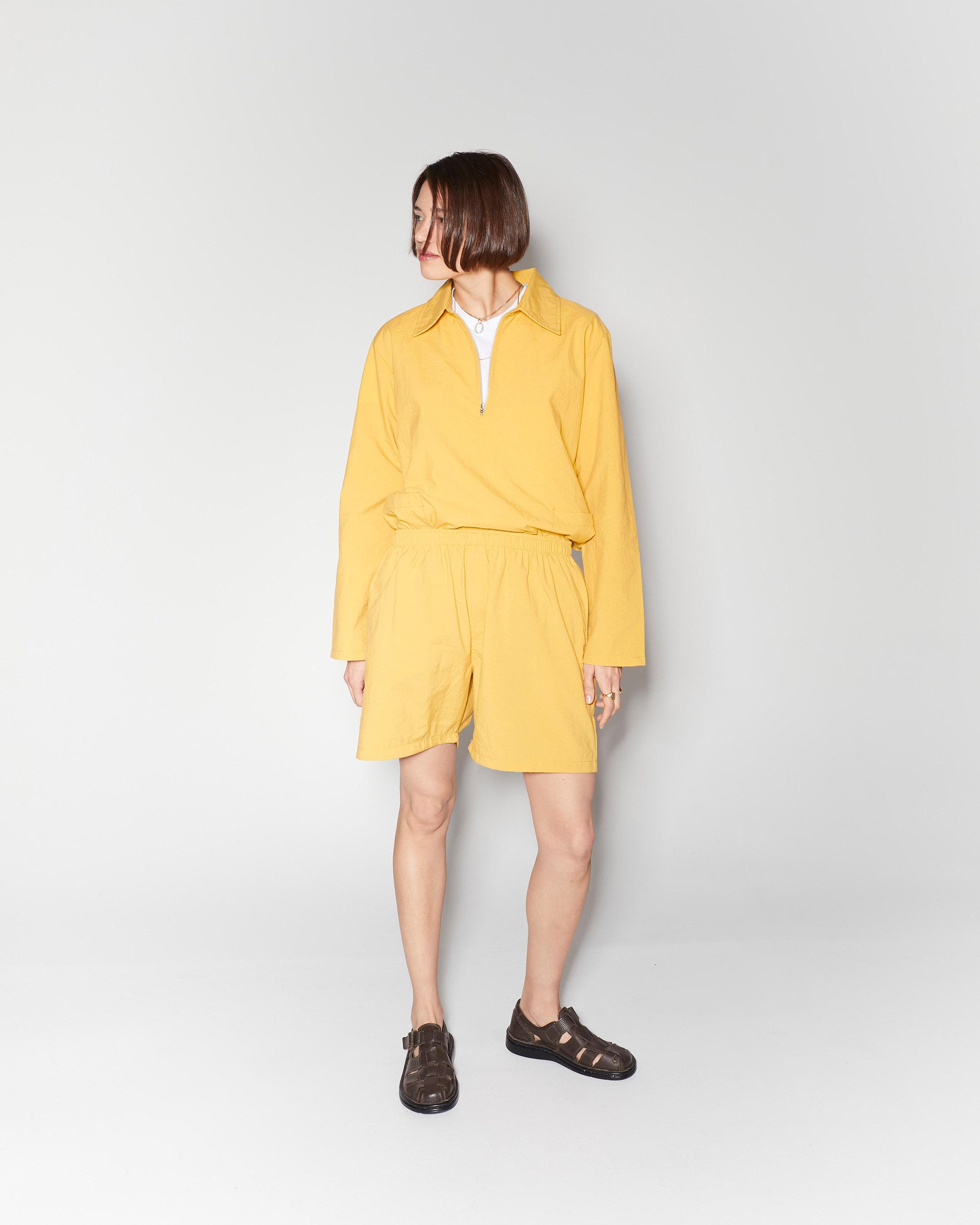 shorts 3  nylon short yellow 210415 ecom 785